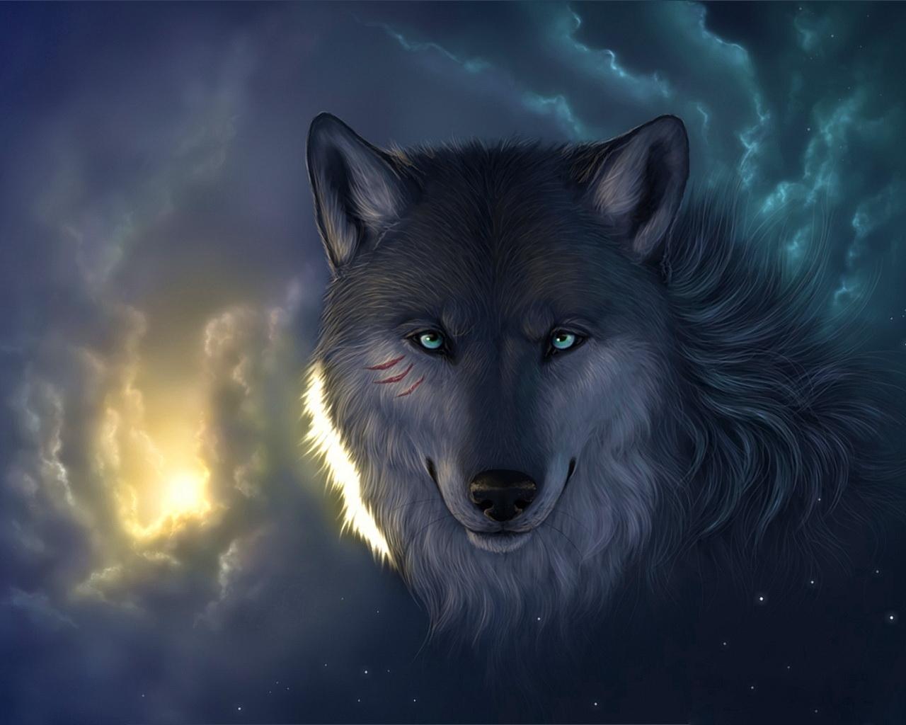 Картинки волк красивая