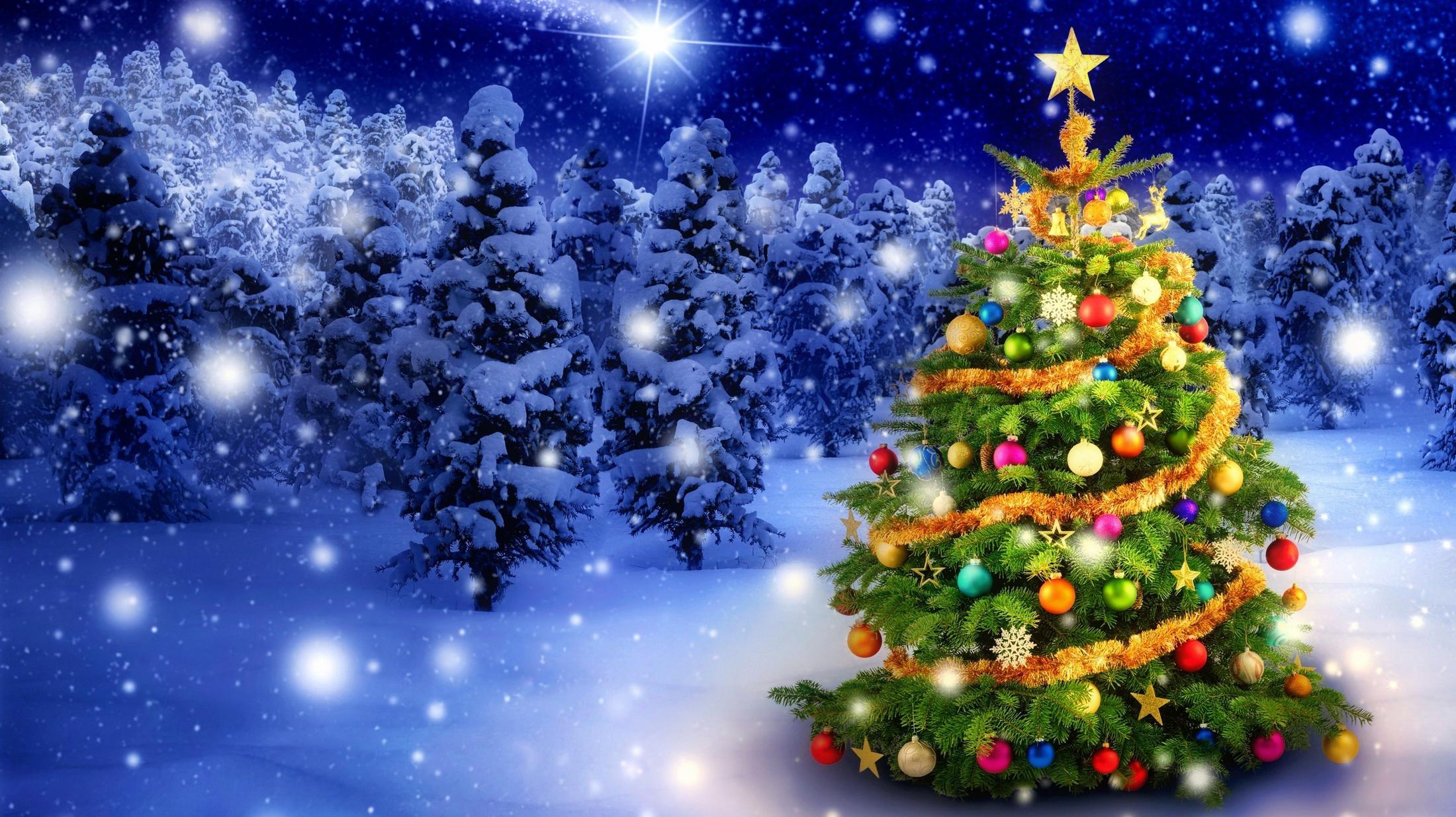 Новогодние картинки с елкой красивые