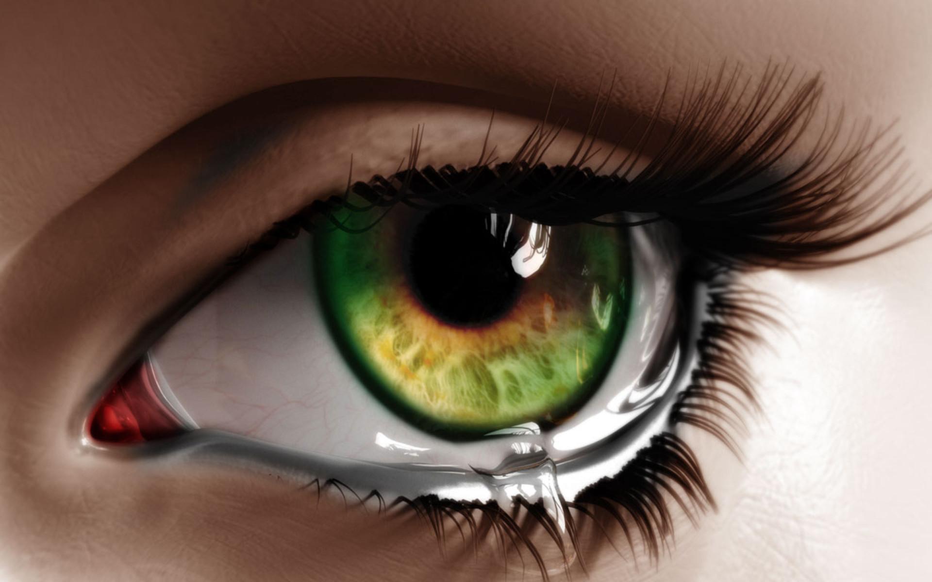 Картинки на аву плачущие глаза