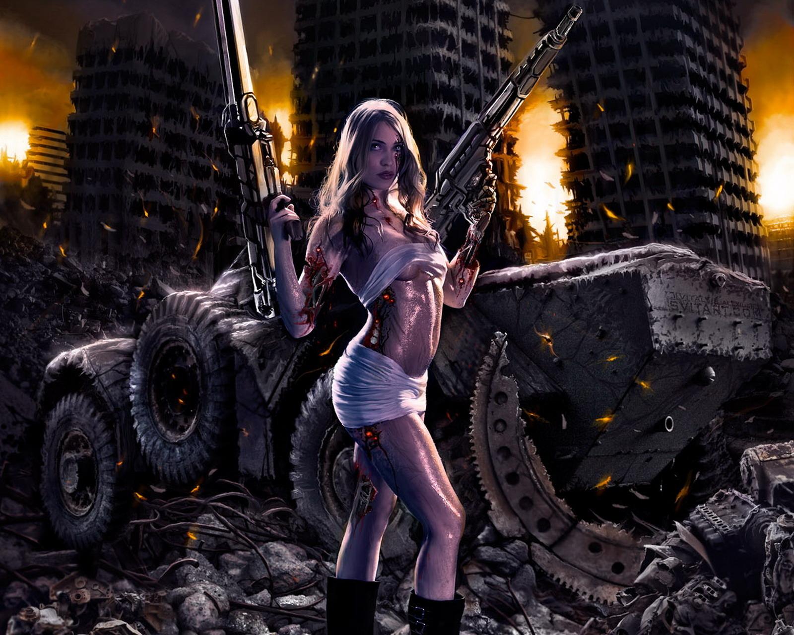 Картинки девушки из фантастики