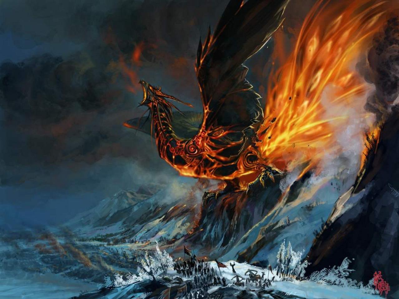 все драконы в огне картинки менее