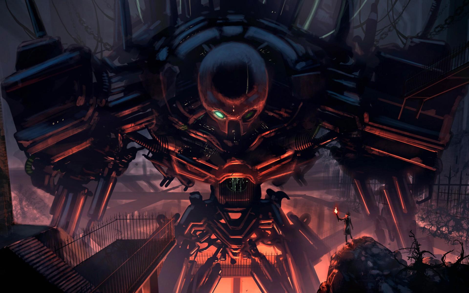 Картинки из аниме фантастика роботы
