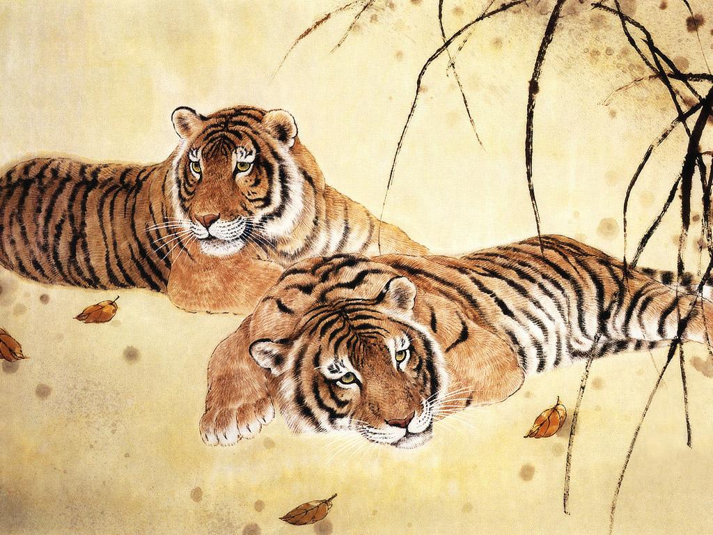 михайлова открытки животные тигр лобстер, аллигатор