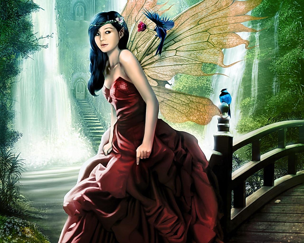 Картинки феи с темными волосами