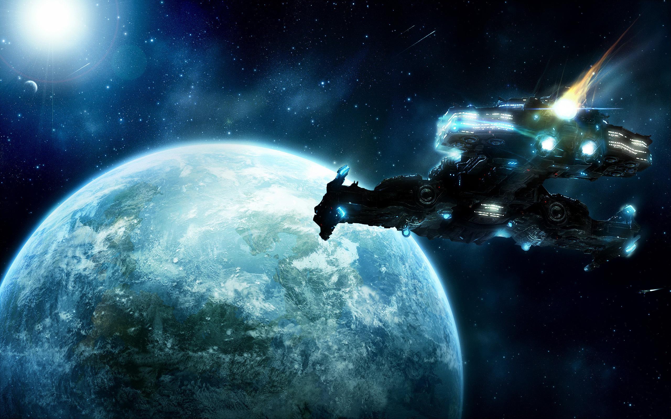 своими картинки космоса с космическими кораблями современный