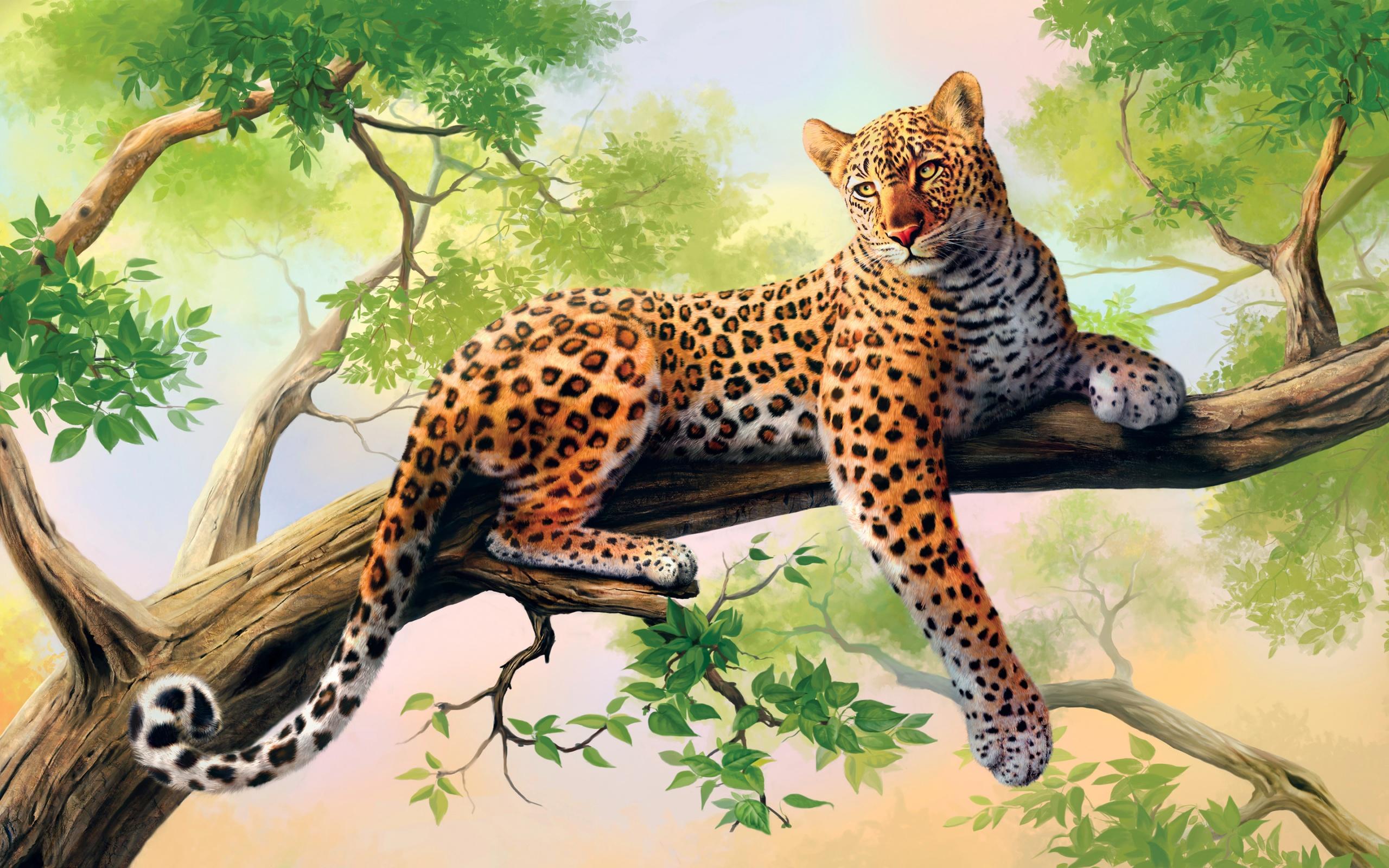 Леопард картинка на телефон