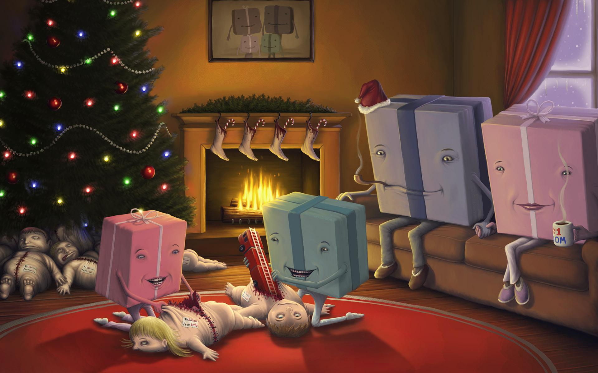 Про новогодние чудеса прикольные картинки