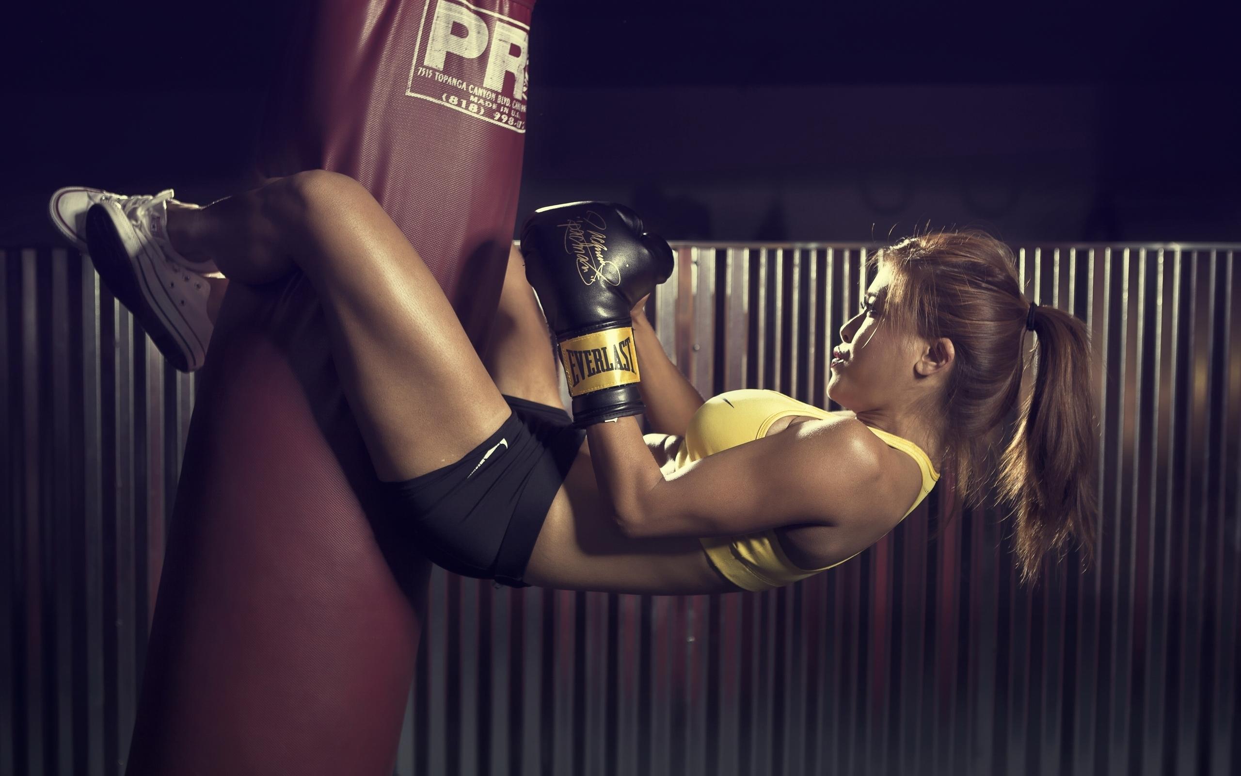 Бокс для похудения девушке видео