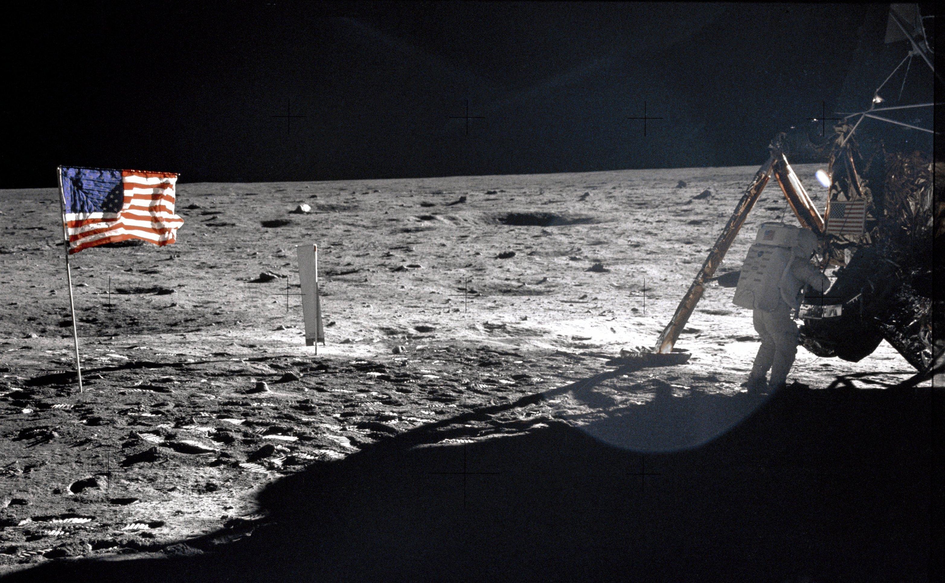 Американцы на луне картинка